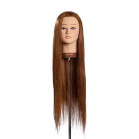Trainingskopf Angelina, langhaarkopf, echthaarkopf, schaufensterpuppe, limagekopf, echthaar übungskopf, günstig übungskopf kaufen, limagekopf kaufen